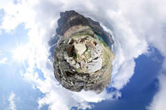 360 Planet Photo of Lake O'Hara, BC, Canada, Huber Ledges