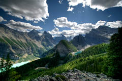 Little Beehive Lookout, Lake Louise, Alberta, Canada, Banff National Park
