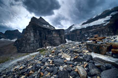 Storm Clouds over Plain of Six Glaciers, Lake Louise Alberta Canada